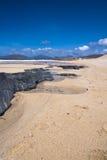 Modific il terrenoare, Harris del sud, spiaggia di Traigh Mhor Fotografie Stock
