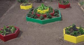 Modific il terrenoare il disegno di un luogo del giardino Fotografia Stock