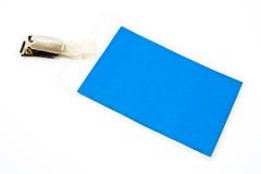 Modifica in bianco della scheda di identificazione immagini stock