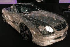 Modifica bling di Mercedes del diamante di Bling Fotografia Stock Libera da Diritti
