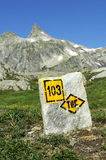 Modifica che trekking Fotografia Stock Libera da Diritti