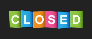 Modifica chiusa Messaggio del mercato Illustrazione piana di vettore sulle sedere nere Fotografie Stock Libere da Diritti