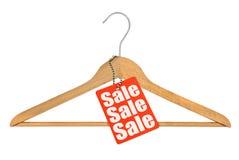 Modifica del gancio e di vendita di cappotto Fotografia Stock Libera da Diritti