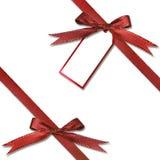 Modifica del regalo che pende da un presente Fotografia Stock