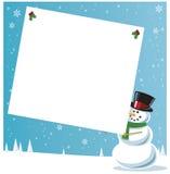 Modifica del regalo della holding del pupazzo di neve Fotografia Stock