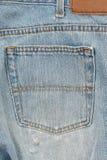 Modifica delle blue jeans Immagine Stock