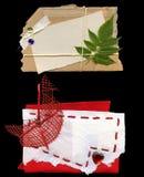 Modifica di carta stratificata della nota del cartone Fotografie Stock Libere da Diritti