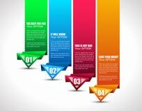 Modifica di opzione con stile del documento di origami Fotografie Stock