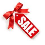 Modifica di vendite isolata su bianco Fotografia Stock