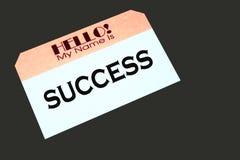 Modifica noma che indica successo Fotografia Stock