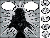 Modification de héros superbe illustration de vecteur