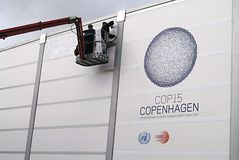MODIFICATION DE L'ONU CMILMATE DE COP15 COPENHAGUE Image stock