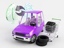 Modification saisonnière de pneu Image libre de droits