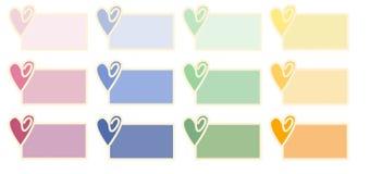 Modifiche del biglietto di S. Valentino Fotografia Stock