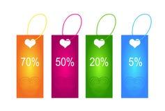 Modifiche del biglietto di S. Valentino Fotografie Stock