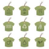 Modifiche della maglietta con i motivi Fotografia Stock Libera da Diritti