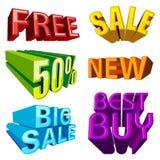 Modifiche di vendita Fotografia Stock