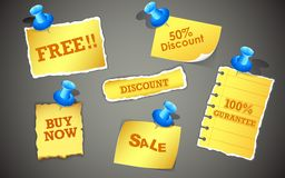 Modifiche di vendita Fotografie Stock Libere da Diritti