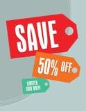 Modifiche di vendita Fotografie Stock