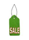 Modifiche di vendita Etichette del regalo, isolate su fondo bianco Fotografie Stock