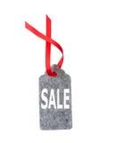 Modifiche di vendita Etichette del regalo isolate su fondo bianco Immagini Stock