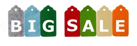 Modifiche di vendita Etichette del regalo, isolate su fondo bianco Immagini Stock Libere da Diritti