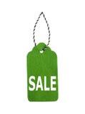 Modifiche di vendita Etichette del regalo, isolate su fondo bianco Fotografia Stock Libera da Diritti