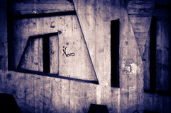 Modifiche e graffiti Immagine Stock