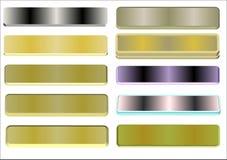 Modifiche nome del metallo 3d Fotografia Stock