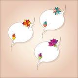 Modifiche squisite con i fiori astratti Fotografie Stock