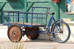 Modified bicycle with cart Stock Image