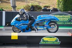 Modified Bike Category 2018 Winternationals Ipswich Australia. A modified bike at the starting line during the celebration of the 2018 Gulf western Oils royalty free stock photo