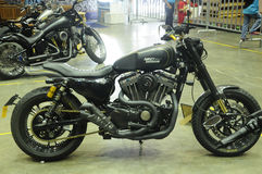 Modified cafe racer custom bike. SERDANG, MALAYSIA -MAY 29, 2016: Cafe racer custom bike modified from classic motorcycle Royalty Free Stock Photos