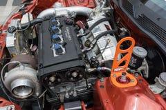Modified  Honda  DOHC VTec engine Stock Photos