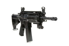 Modified M4 Carbine. With laser sight royalty free stock photos