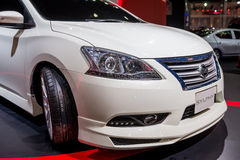 Modified Nissan Sylphy on display Royalty Free Stock Photo