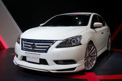 Modified Nissan Sylphy on display Stock Image
