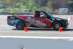 Modified pickup truck in autocross Stock Photography