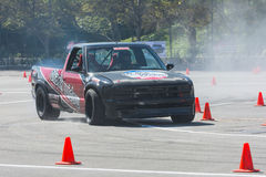 Modified pickup truck in autocross Stock Photos