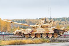 Modified T-72 with additional protection kit Stock Photography