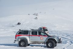 Modified Toyota Hilux truck from Iceland search and rescue royalty free stock images