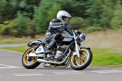 Modified Triumph motorcycle sprint Stock Photo