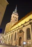 Modifiez l'église de Peter à Munich, Allemagne photos stock
