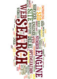 Modifiez votre site Web avec le concept de Seo Text Background Word Cloud Image libre de droits