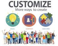 Modifique las ideas para requisitos particulares que la innovación de la individualidad de la identidad personaliza el Co imágenes de archivo libres de regalías