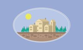 Modig bakgrundsillustration för hus Royaltyfria Bilder