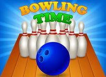 Modig bowlingtid royaltyfri illustrationer