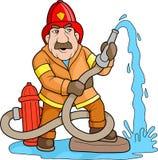 Modig brandman Fotografering för Bildbyråer
