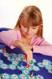 modig flicka för bräde little som leker Royaltyfri Fotografi