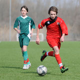 modig fotboll 15 under Arkivfoto